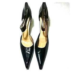 CHANEL POINTED TOE  HEELS SIZE 39/8.5